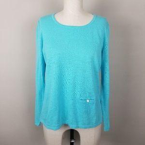 J.Jill Linen/Cotton Blend  Lightweight Sweater.